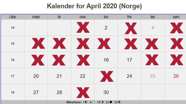 kalender arial black 72 april 2020